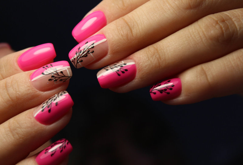 formation baby color nail art